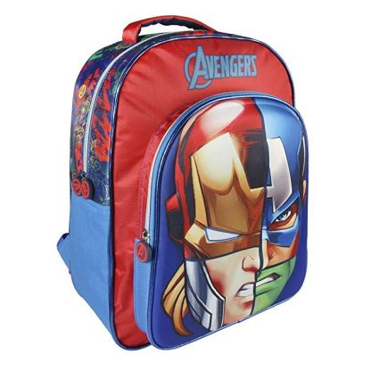 Zaino da scuola personalizzabile Avengers 3D 41x31