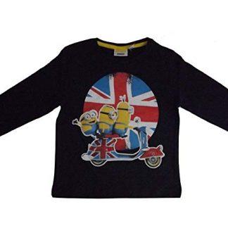Minions T-shirt Nera maniche lunghe ragazzo London