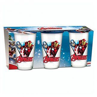 Set 3 Bicchieri in vetro Avengers per bambini
