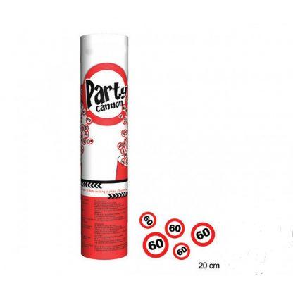 Party cannon bomboletta di coriandoli popper 60 anni 20 cm