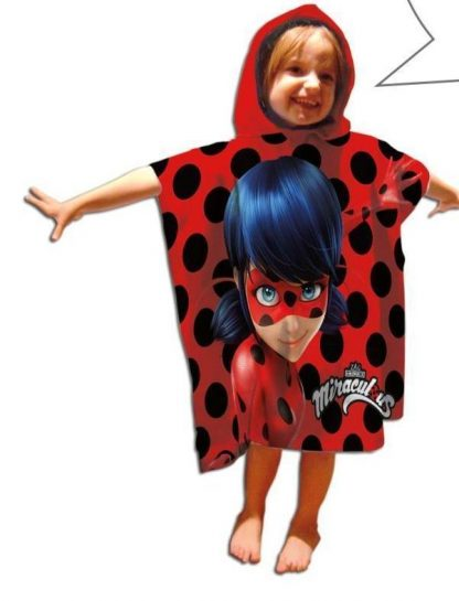 Ladybug Poncho 50x100 cm