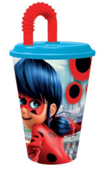 Ladybug bicchiere con cannuccia