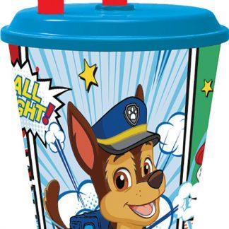 Paw Patrol Bicchiere con cannuccia 430 ml