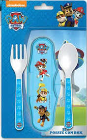 Paw Patrol Set 2 posate forchetta cucchiaio